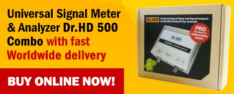 Universal Signal Meter and Analyzer Dr.HD 500 Combo - Buy now!